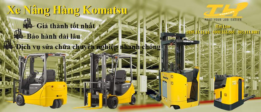 Cho thuê xe nâng Komatsu